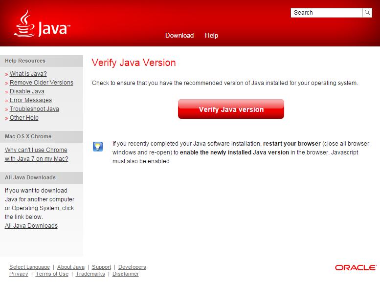 Java Webpage Popup
